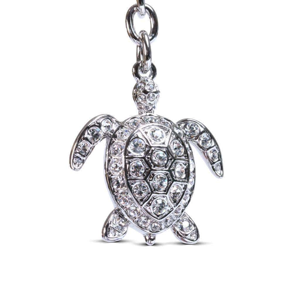 Kalifano Crystal Keychains Crystals Turtle Keychain made with Swarovski Crystals SKC-091