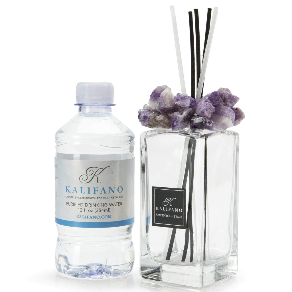 Kalifano Diffuser HAPPY HOLIDAYS from KALIFANO -- Amethyst Gemstone Scent Diffuser GD-AM