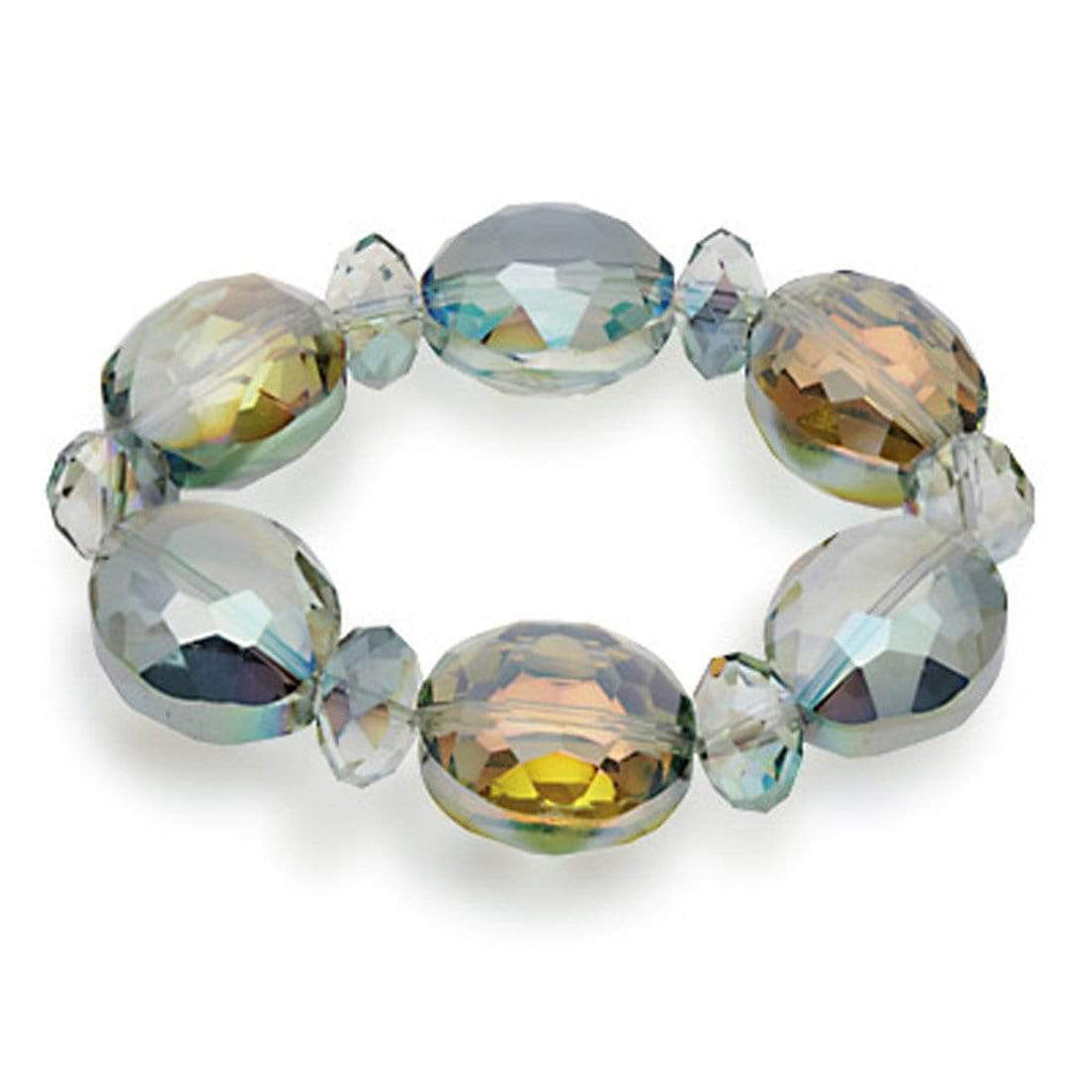 Kalifano Florence Vienna Jewelry BLUE-BVG-CT - Vienna Gorgeous Glass Bracelet - Crystal Tabac BLUE-BVG-CT