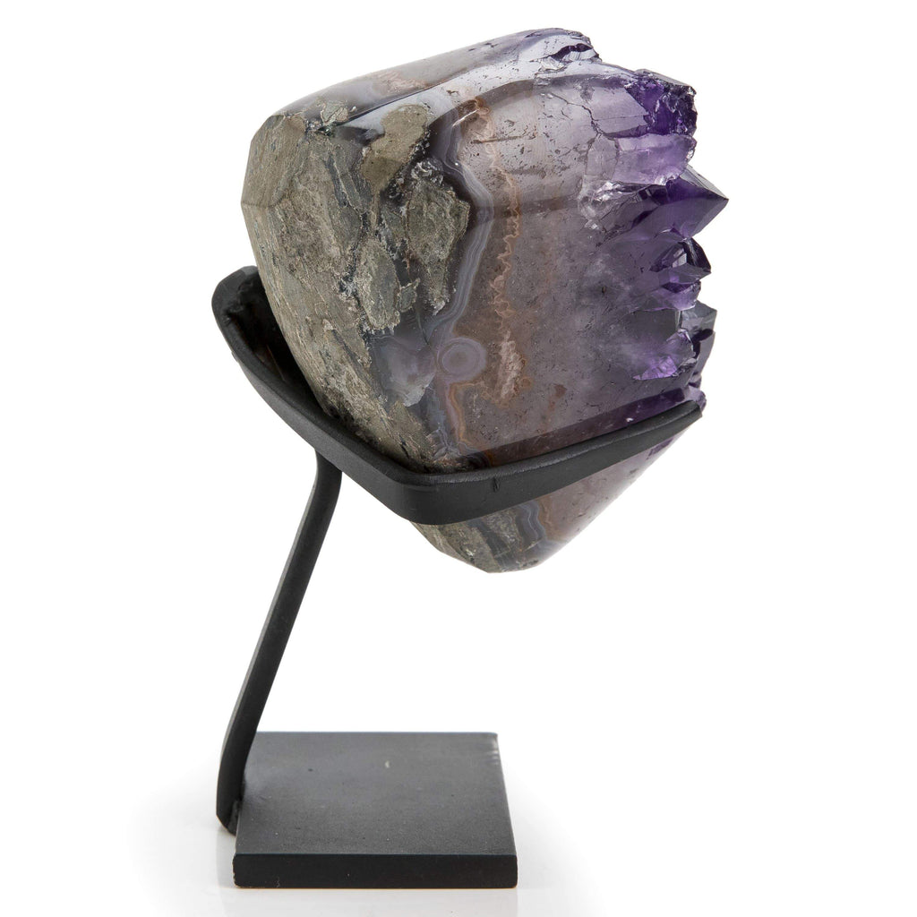 Kalifano Fossils & Minerals Natural Uruguayan Amethyst Geode on Stand - 6.25 in / 2.5 lbs UAG700.001