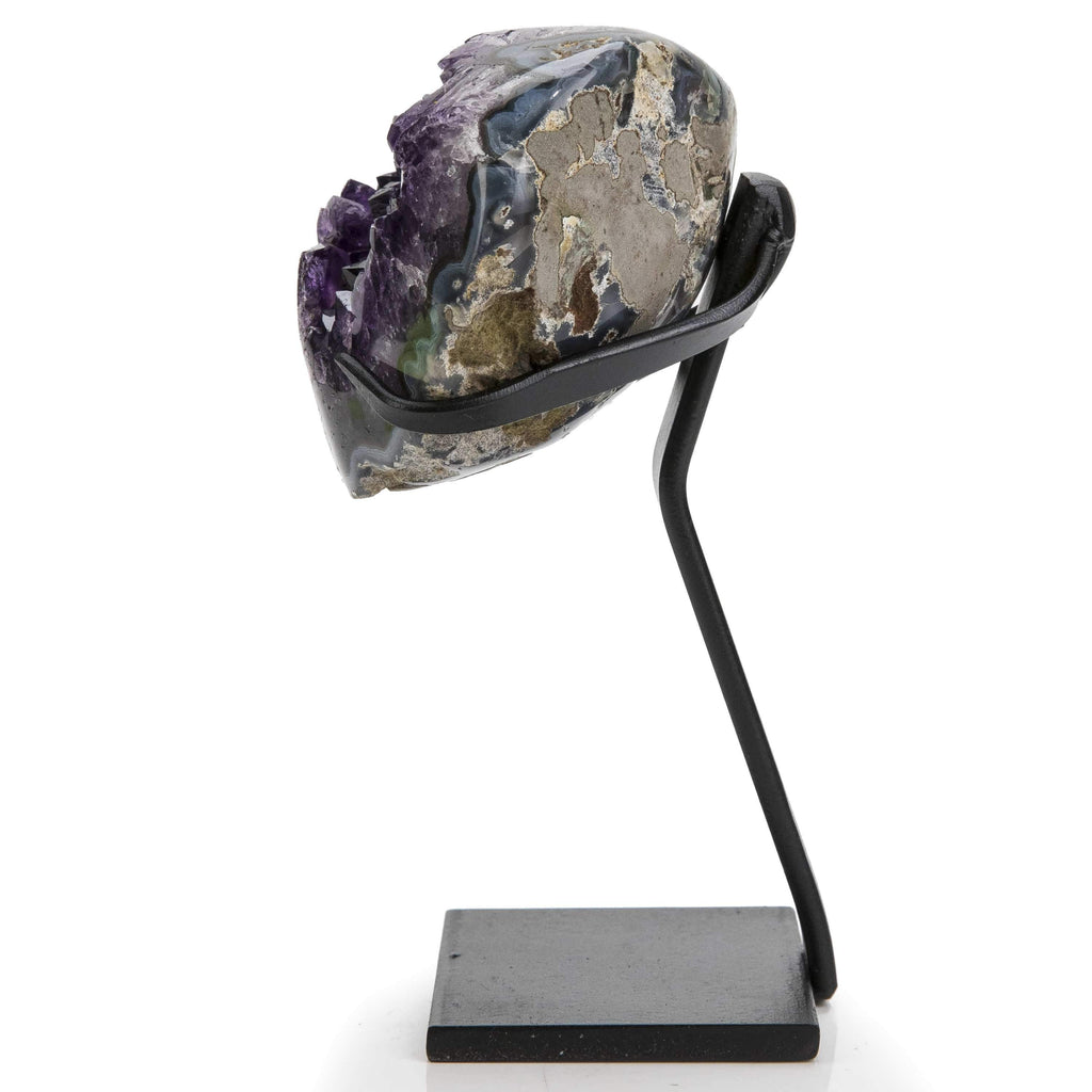 Kalifano Fossils & Minerals Natural Uruguayan Amethyst Geode on Stand - 6.75 in / 2.1 lbs UAG600.002