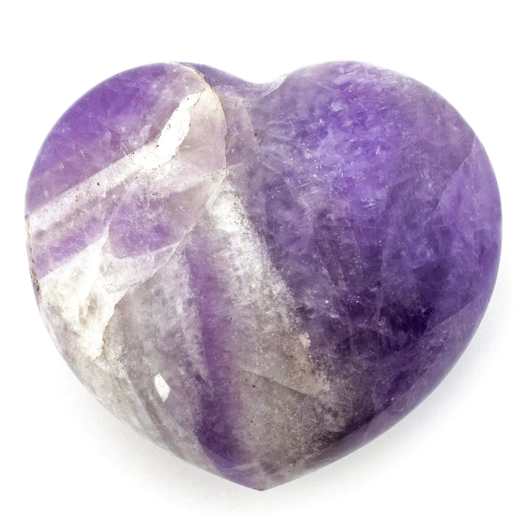Kalifano Gemstone Carvings Amethyst Gemstone Heart Carving GC-HR-AMETHYST