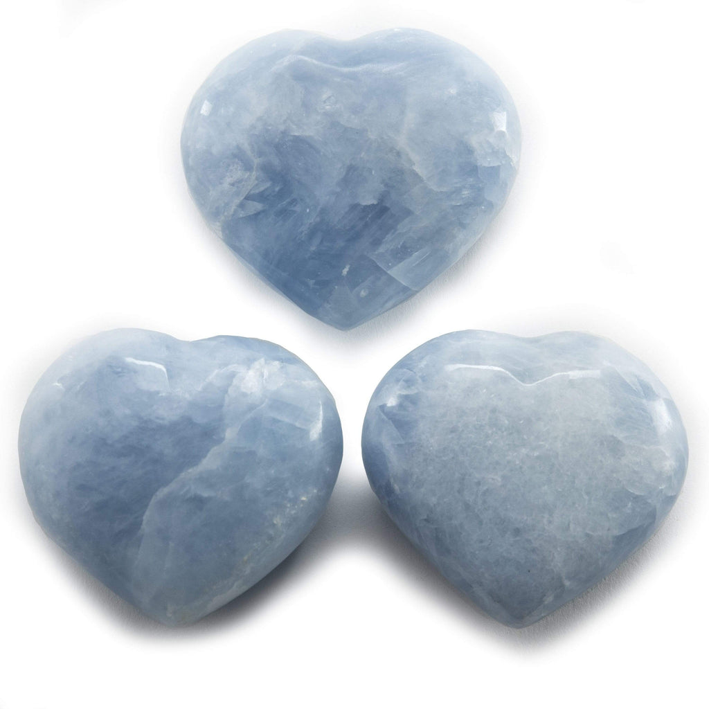 Kalifano Gemstone Carvings Blue Calcite Gemstone Heart Carving GC-HR-BLUECALCITE