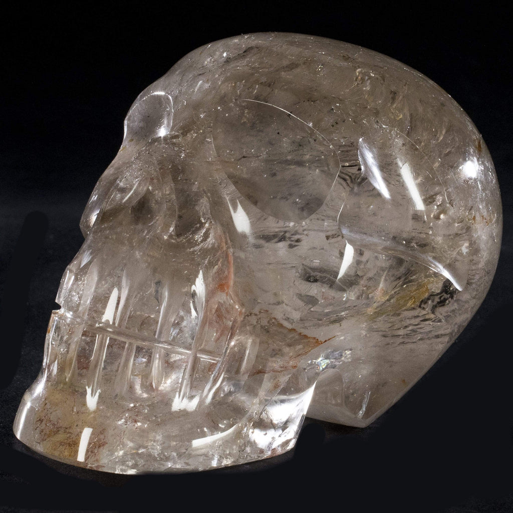 Natural Hand Carved Brazilian Quartz Skull - 3.5 in. / 4 lbs