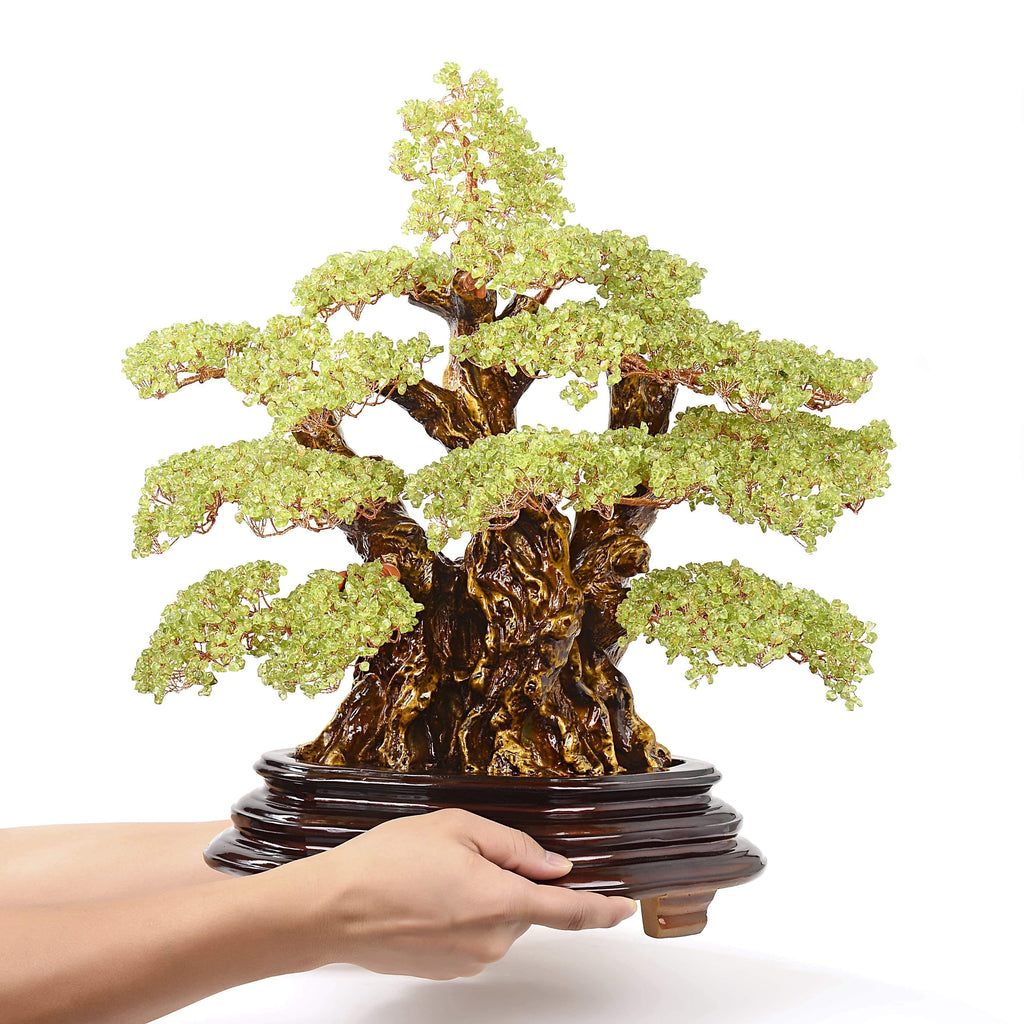 Kalifano Gemstone Trees Peridot Tree of Life Centerpiece with 4,725 Natural Gemstones K91000-PR