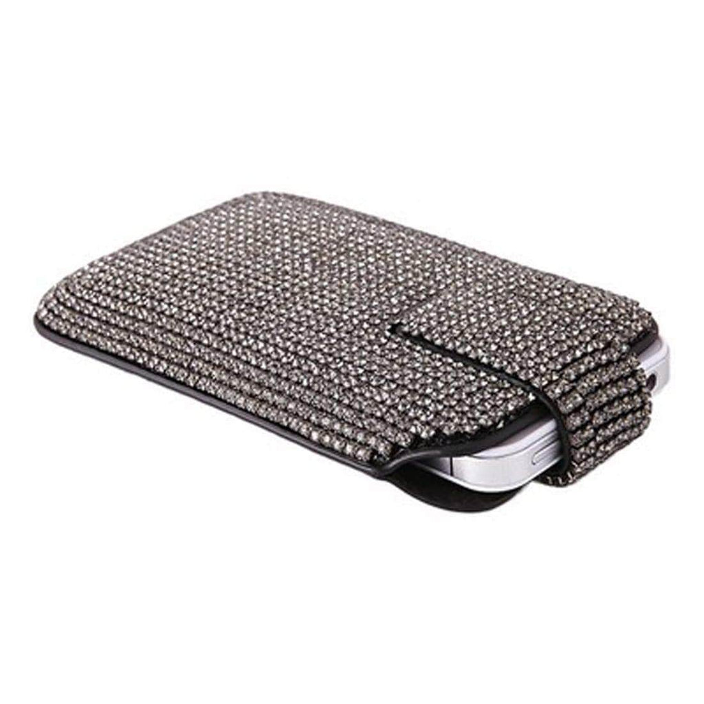 Kalifano iPhone SPC-002-BD-B - iPhone 5SE/5S/5 Case Made w/ Swarovski Crystals  - Black Diamond SPC-002-BD-B