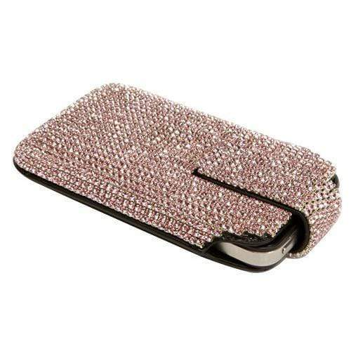 Kalifano iPhone SPC-002-LR-B - iPhone 5SE/5S/5 Case Made w/ Swarovski Crystals  - Light Rose Crystals SPC-002-LR-B