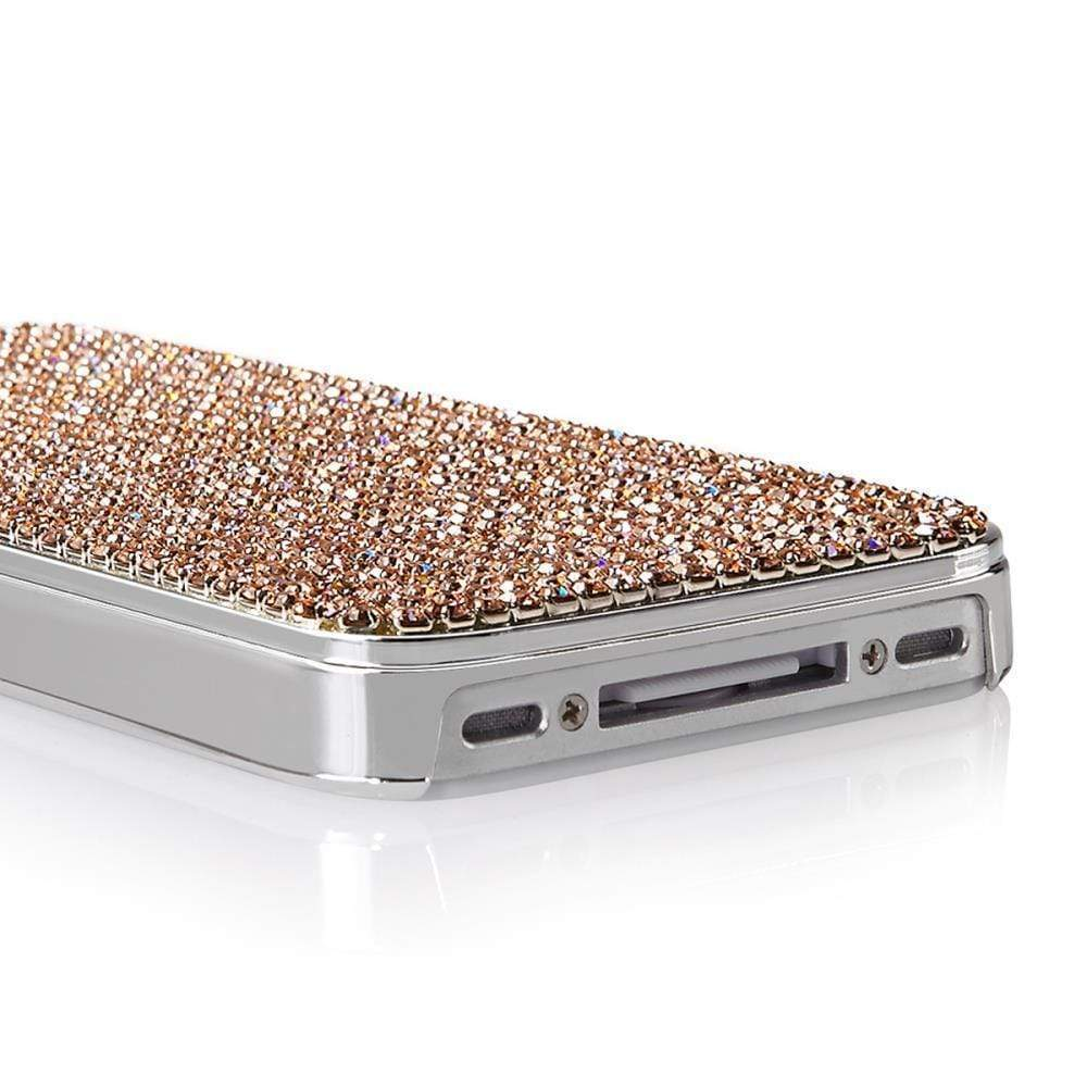 Kalifano iPhone SPC-005-LP - iPhone 4 Case Made w/ Czech Crystals - Light Peach SPC-005-LP