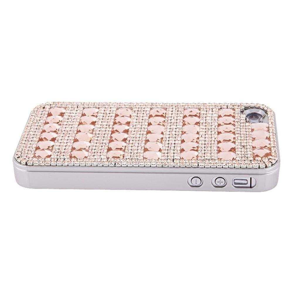 Kalifano iPhone SPC-007-LP - iPhone 4 Case Made w/ Czech Crystals - Light Peach Crystals SPC-007-LP