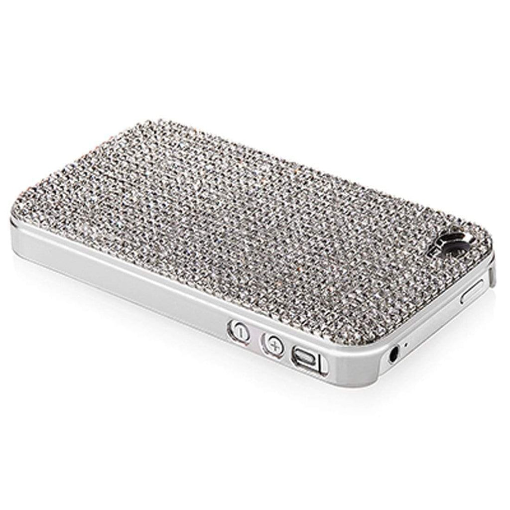 Kalifano iPhone SPC-022-C - iPhone 4 Case Made w/ Clear Crystals SPC-022-C