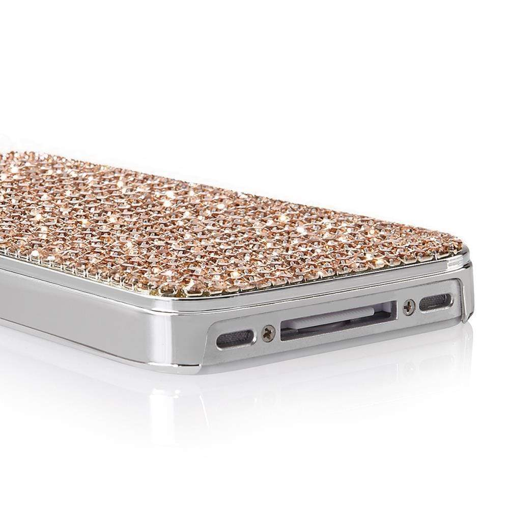 Kalifano iPhone SPC-022-LP - iPhone 4 Case Made w/ Light Peach Crystals SPC-022-LP