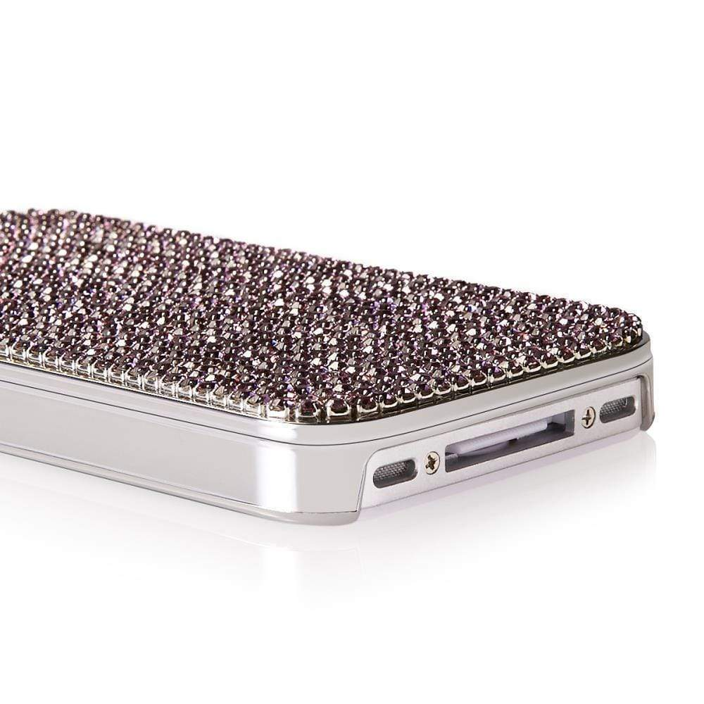 Kalifano iPhone SPC-022-PL - iPhone 4 Case Made w/ Providence Lavender Crystals SPC-022-PL