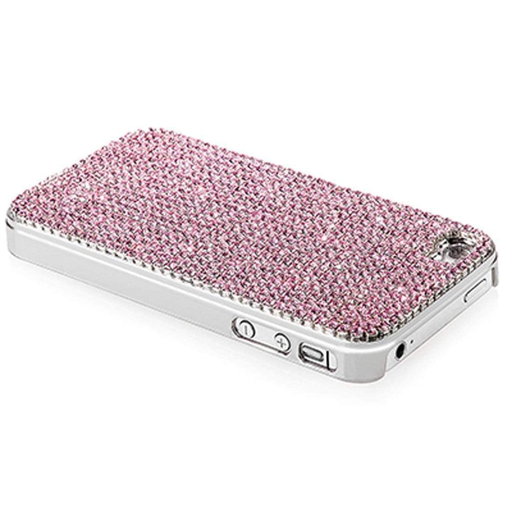 Kalifano iPhone SPC-022-R - iPhone 4 Case Made w/ Rose Crystals SPC-022-R