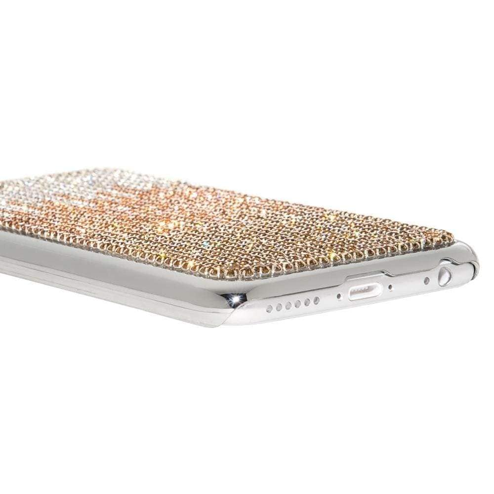 Kalifano iPhone SPC6-006C-CLPS - iPhone 6 Case with Wavy Design Crystal/Light Peach/Sunflower Crystal SPC6-006C-CLPS