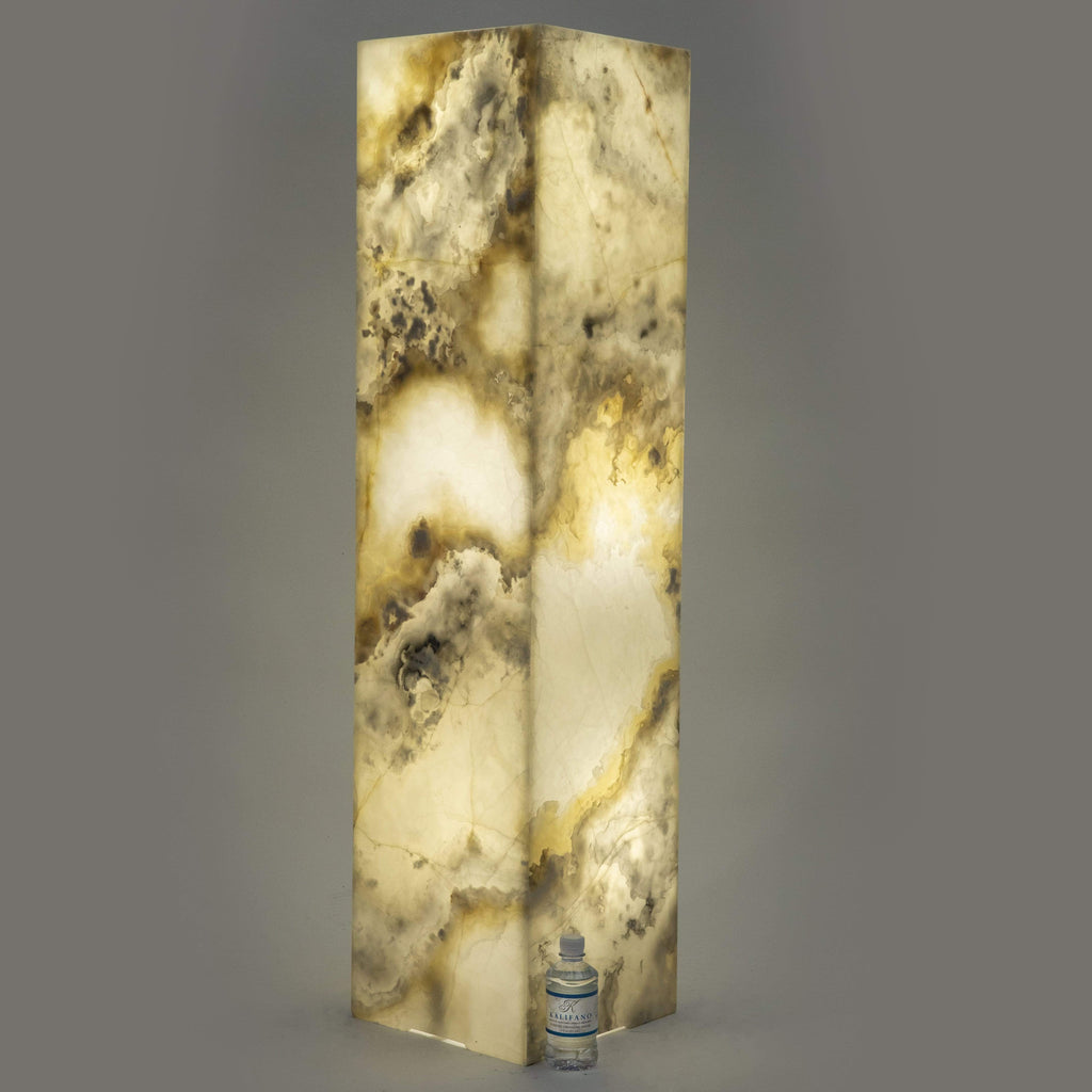 Kalifano LIGHT TOWER LTS1253030.008 - White Glossy Onyx Light Tower LTSQ1253030.008