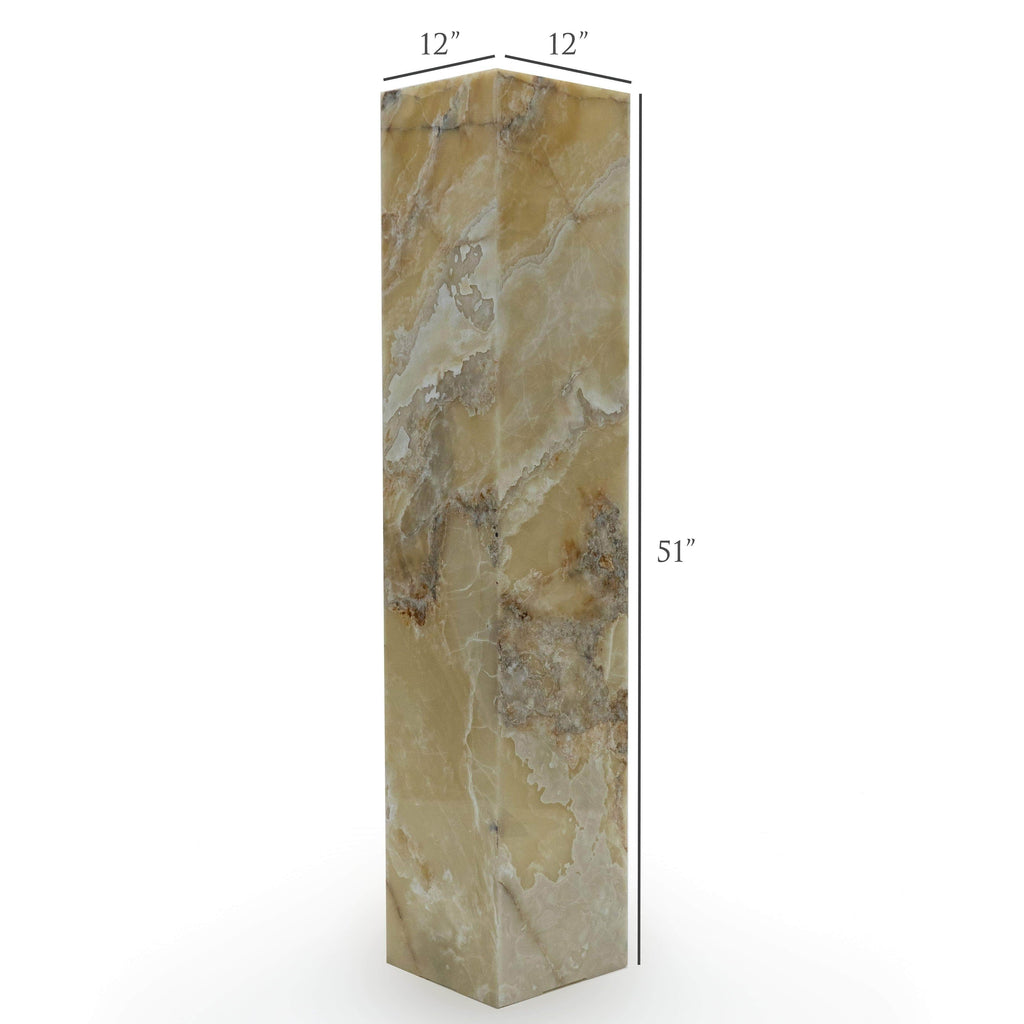 Kalifano Light Towers White Glossy Onyx Light Tower - 4.9ft x 1ft x 1ft LTSQ1503030.015