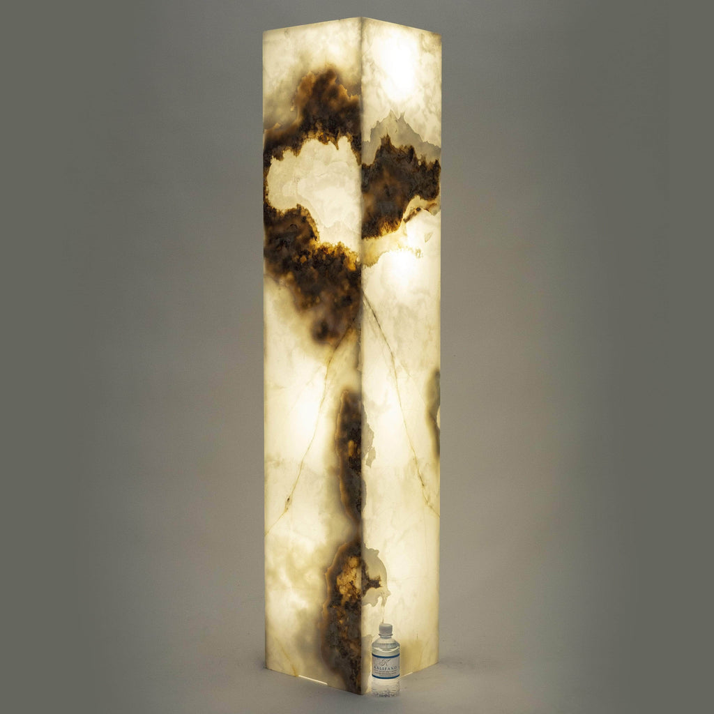 Kalifano Light Towers White Glossy Onyx Light Tower - 4.9ft x 1ft x 1ft LTSQ1503030.016
