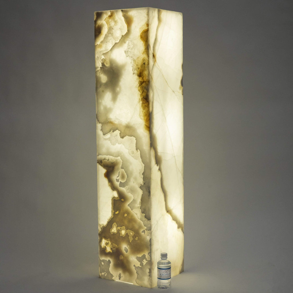 Kalifano Light Towers White Glossy Onyx Light Tower - 4ft x 1ft x 1ft LTSQ1253030.005