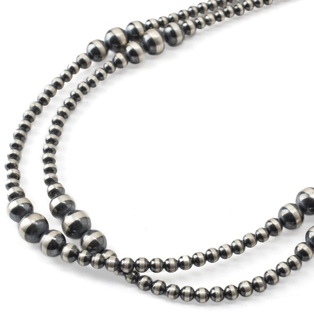 "Kalifano Native American Jewelry 60 "" Navajo Pearls USA Native American Made 925 Sterling Silver Necklace NAN1300.001"