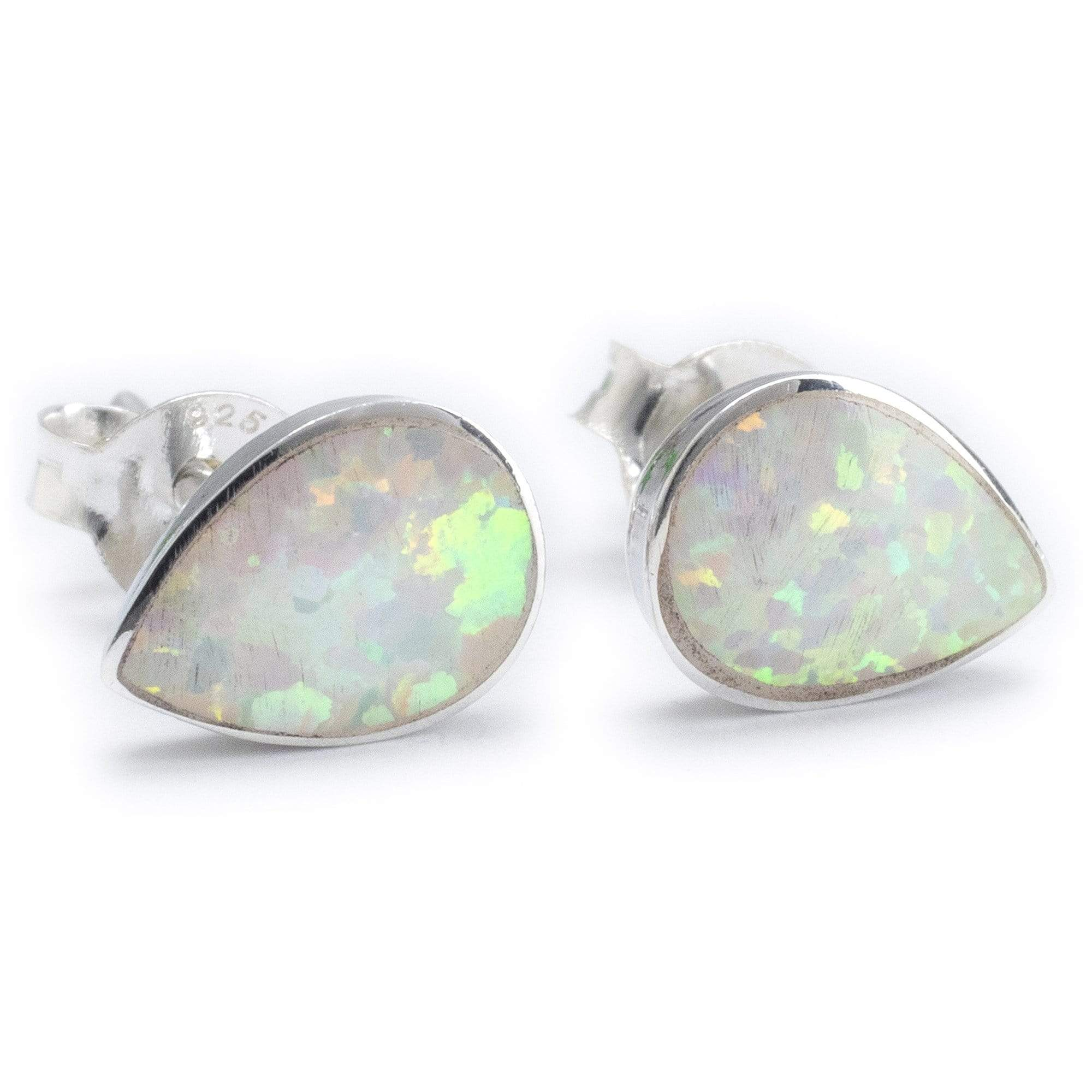 USA Seller Heart Ring Sterling Silver 925 Best Jewelry Selectable Blue Opal