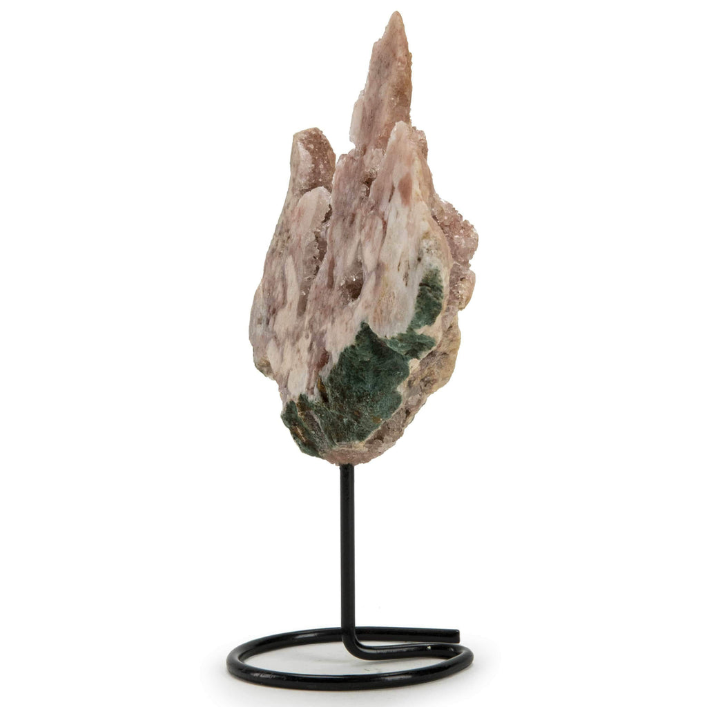 Kalifano Pink Amethyst Natural Brazilian Pink Amethyst on Custom Stand - 7 in / 550 g BRA700.004