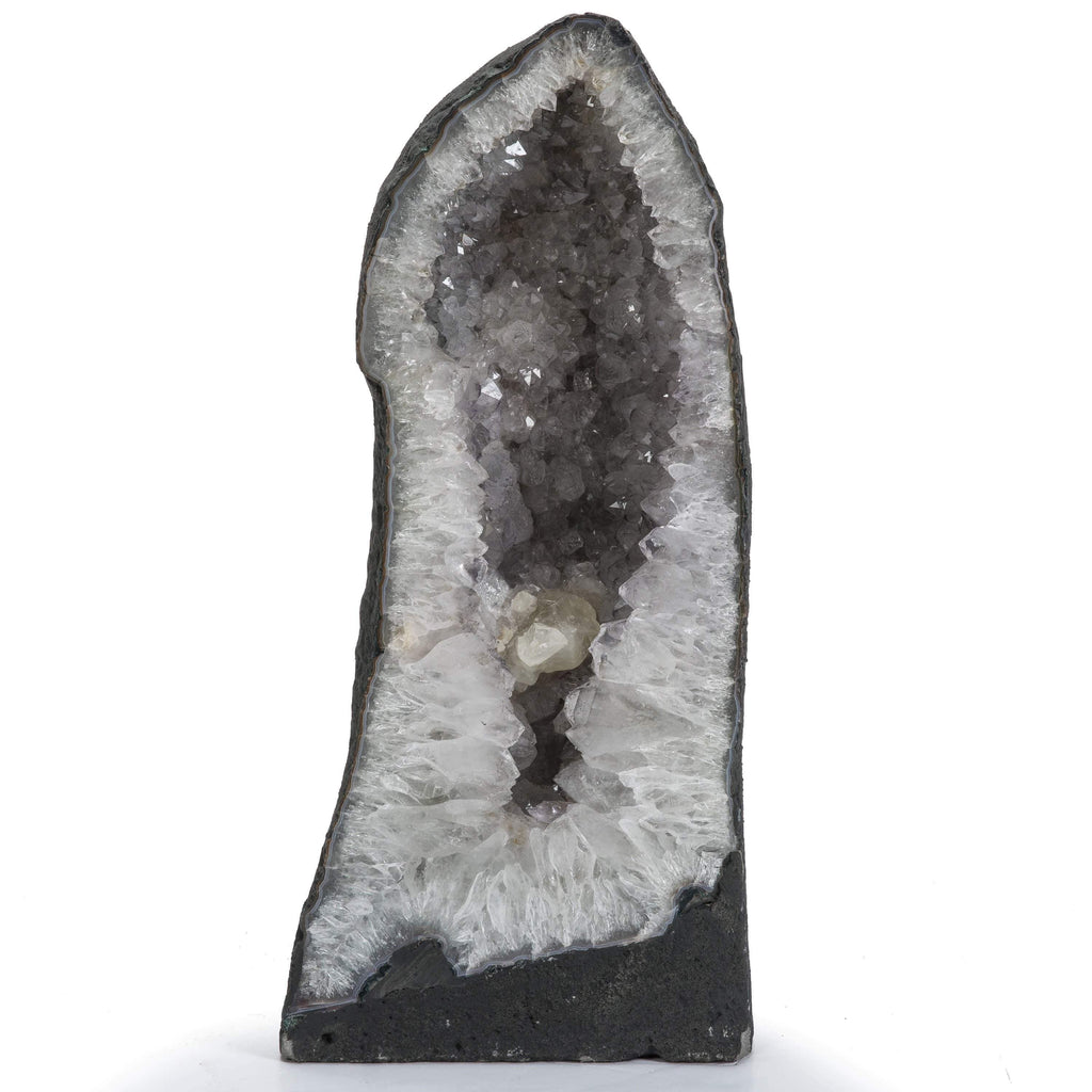 Kalifano Quartz Natural Brazilian Clear Quartz Geode Cathedral - 23 in / 74 lbs BAG3200.002