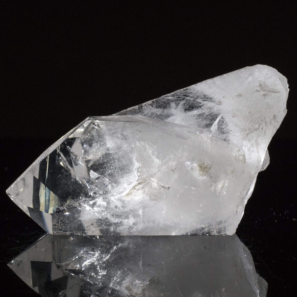Kalifano Quartz Natural Brazilian Quartz Point Cluster - 2.5 in / 386 g QC360.003