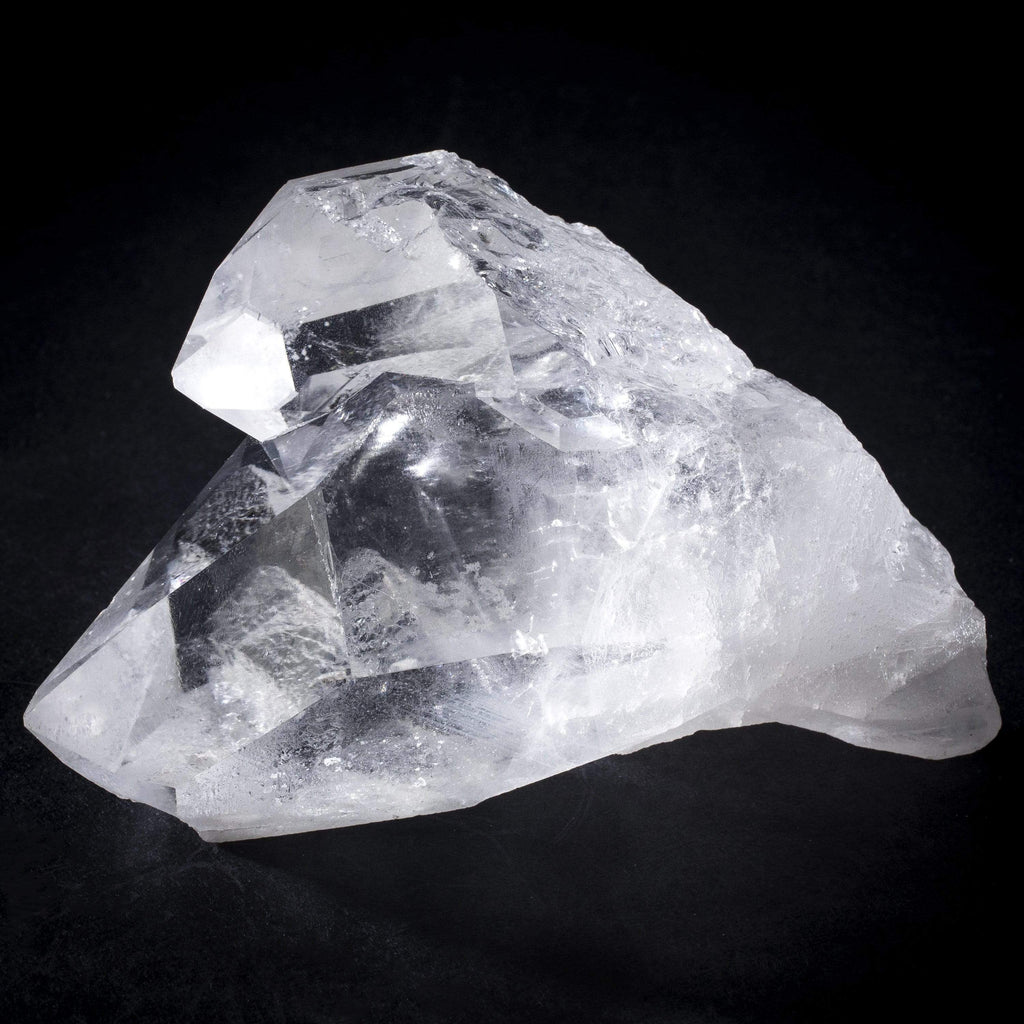 Kalifano Quartz Natural Brazilian Quartz Point Cluster - 2 in / 440 g QC360.001