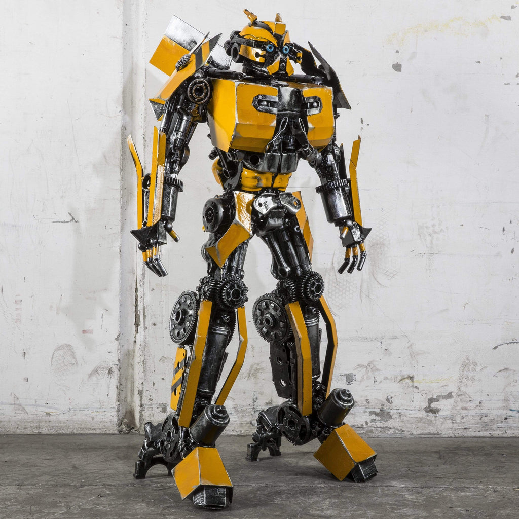 "Kalifano Recycled Metal Art 44"" Bumblebee Inspired Recycled Metal Art Sculpture RMS-BB110-P02"