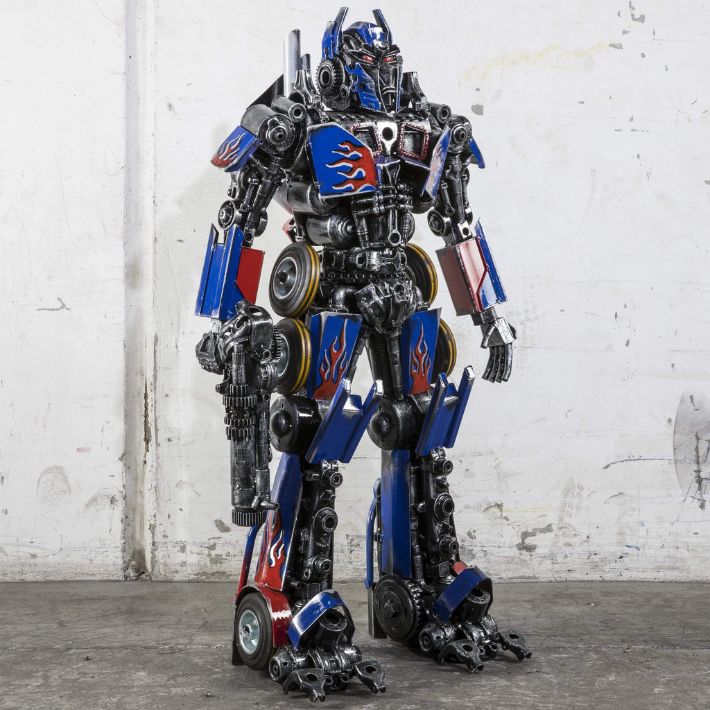 "Kalifano Recycled Metal Art 44"" Optimus Prime Inspired Recycled Metal Art Sculpture RMS-OP110-P01"