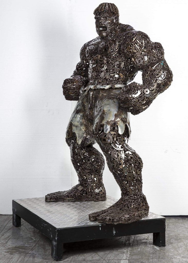 "Kalifano Recycled Metal Art 63"" Hulk Inspired Recyceld Metal Art Sculpture RMS-HLK160-P02"