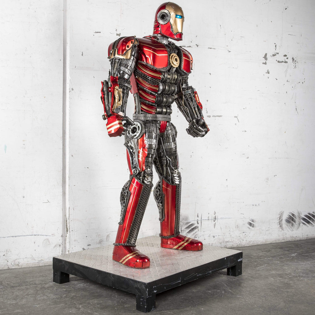 "Kalifano Recycled Metal Art 79"" Iron Man Inspired Recycled Metal Art Sculpture RMS-IMR200-S01"