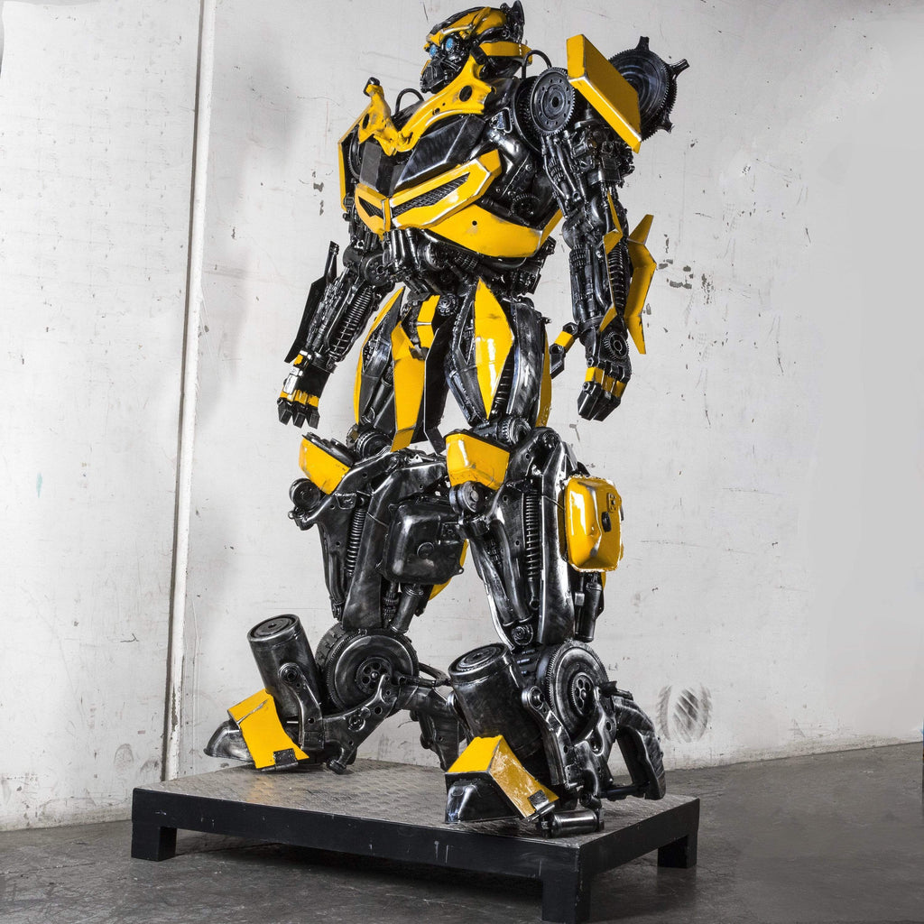 "Kalifano Recycled Metal Art 91"" Bumblebee Inspired Recycled Metal Art Sculpture RMS-BB230-P01"