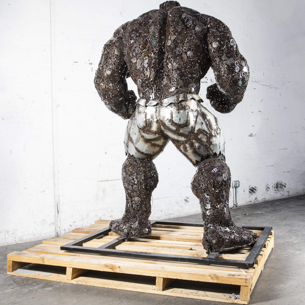 "Kalifano Recycled Metal Art 93"" Hulk Inspired Recycled Metal Art Sculpture RMS-HLK230-P01"