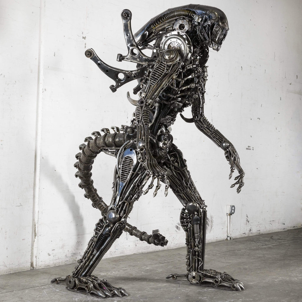 Kalifano Recycled Metal Art Alien Inspired One of a Kind Recycled Metal Sculpture RMS-A220-S01