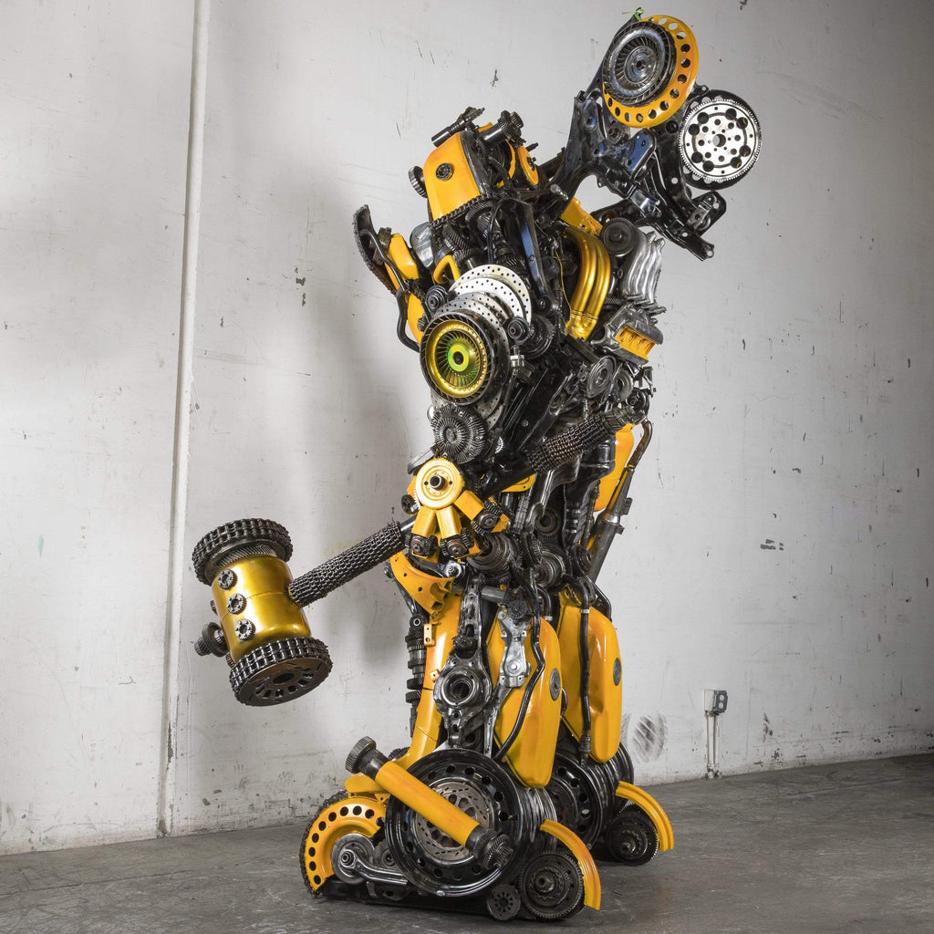 Kalifano Recycled Metal Art Bumble Bee Inspired with Cannon & Hammer One of a Kind Recycled Metal Art Sculpture RMS-BB260-S02