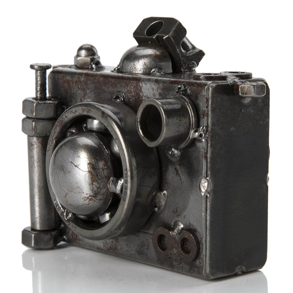 Kalifano Recycled Metal Art Camera Inspired Recycled Metal Sculpture RMS-200C-N