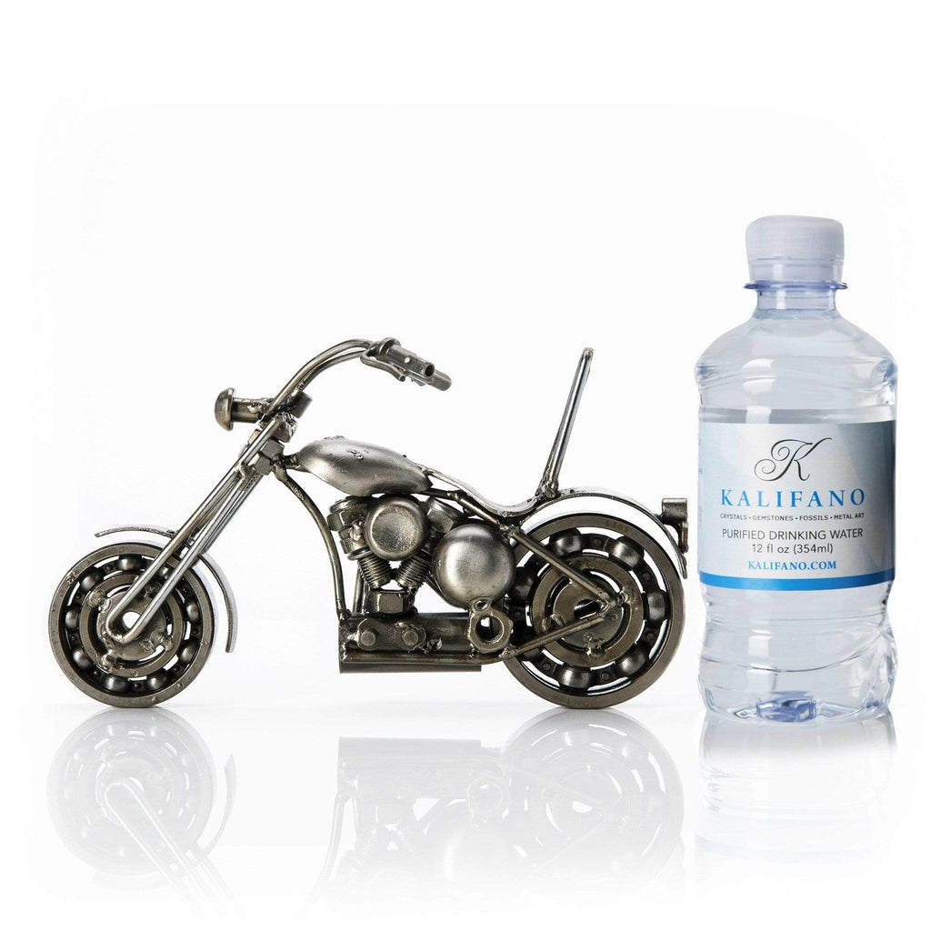 Kalifano Recycled Metal Art Motorcycle Inspired Recycled Metal Sculpture RMS-450MCD-N