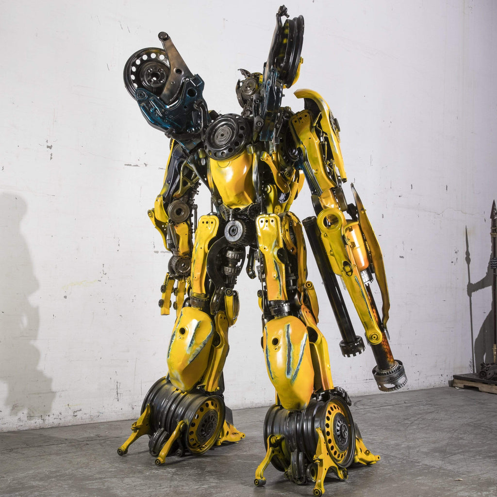 Kalifano Recycled Metal Art RMS-BB260x160-S14 - BumbleBee Inspired Recycled Metal Sculpture Original, One-of-a-Kind Work of Art Height 2.6 m, Width 1.6 m 510 kg RMS-BB260x160-S14