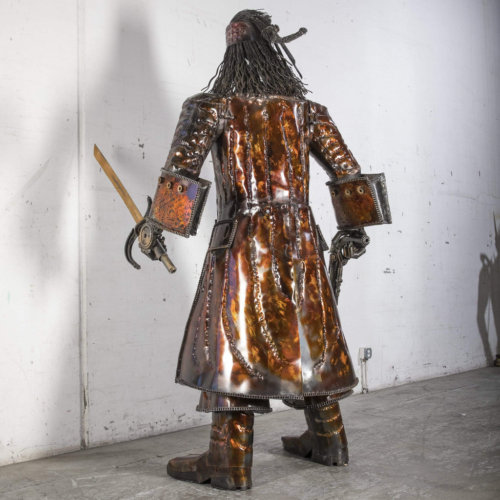 "Kalifano Recycled Metal Art RMS-JS270x150-S01 - Jack Sparrow Inspired Recycled Metal Sculpture Original, One-of-a-Kind Work of Art 270 cm x 150 cm 107"" x 60"" 420 kg RMS-JS270x150-S01"