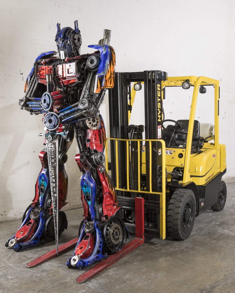 Kalifano Recycled Metal Art RMS-OP270x110-S01 - Optimus Prime Inspired Recycled Metal Sculpture RMS-OP270x110-S01