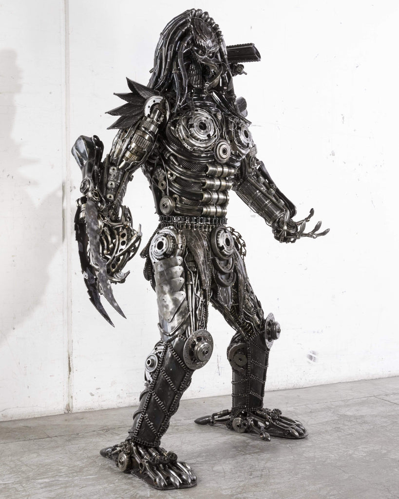 Kalifano Recycled Metal Art RMS-PWH260x140-S01 - Predator Inspired Recycled Metal Art Sculpture RMS-PWH260x140-S01
