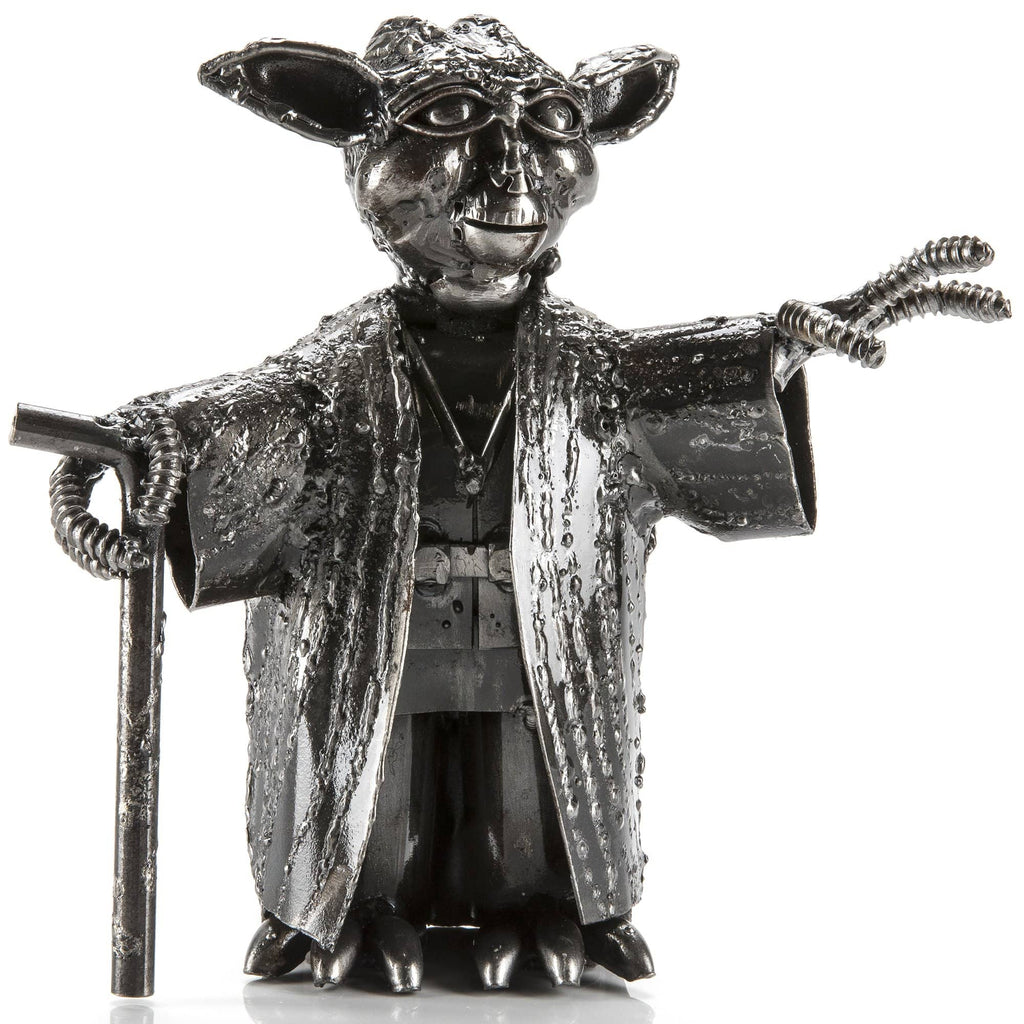 Kalifano Recycled Metal Art Yoda Inspired Recycled Metal Sculpture RMS-600Y-N
