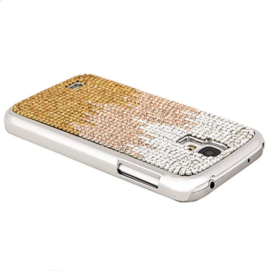 Kalifano Samsung Galaxy SPCG4-001C-CLPS - Galaxy S4 Cover with Wavy Design Crystal/Light Peach/Sunflower Crystal SPCG4-001C-CLPS