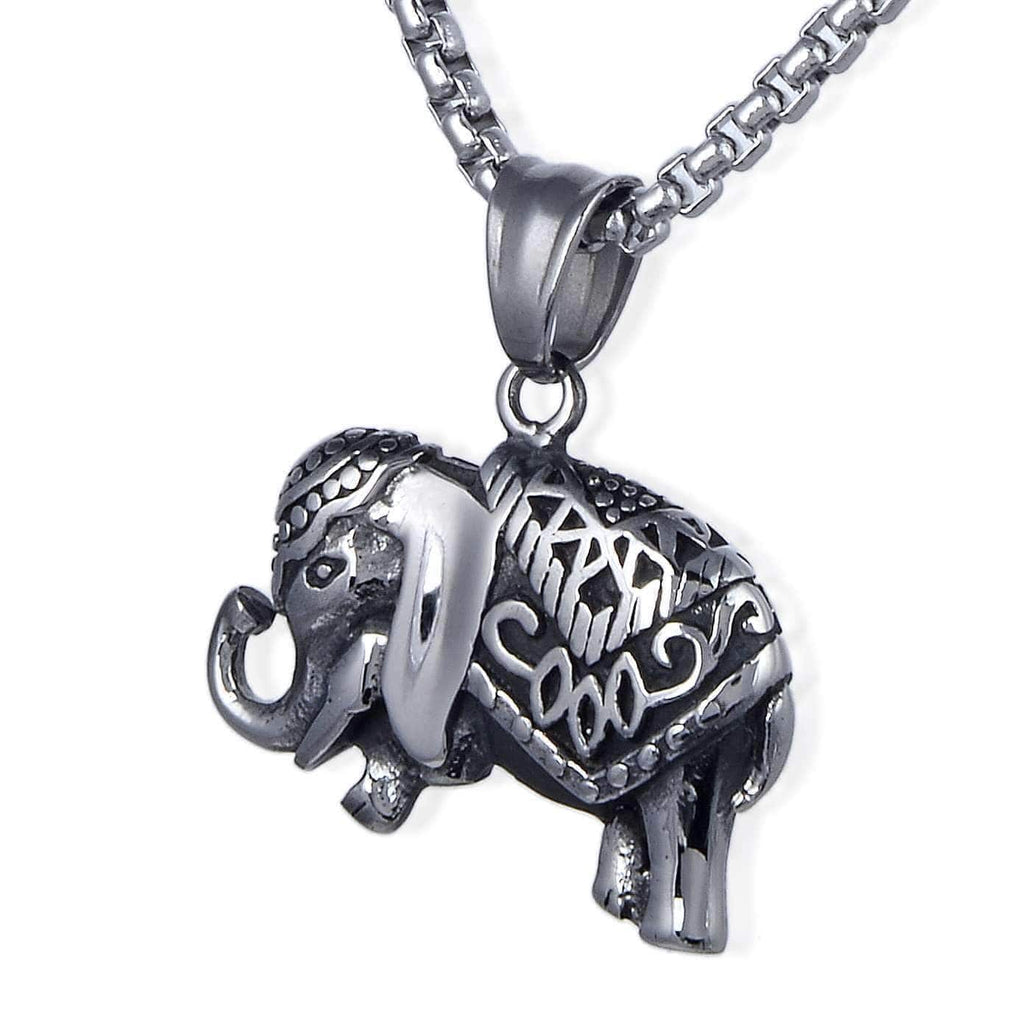 Kalifano Steel Hearts Jewelry Steel Hearts Howdah Elephant Necklace SHN120-85