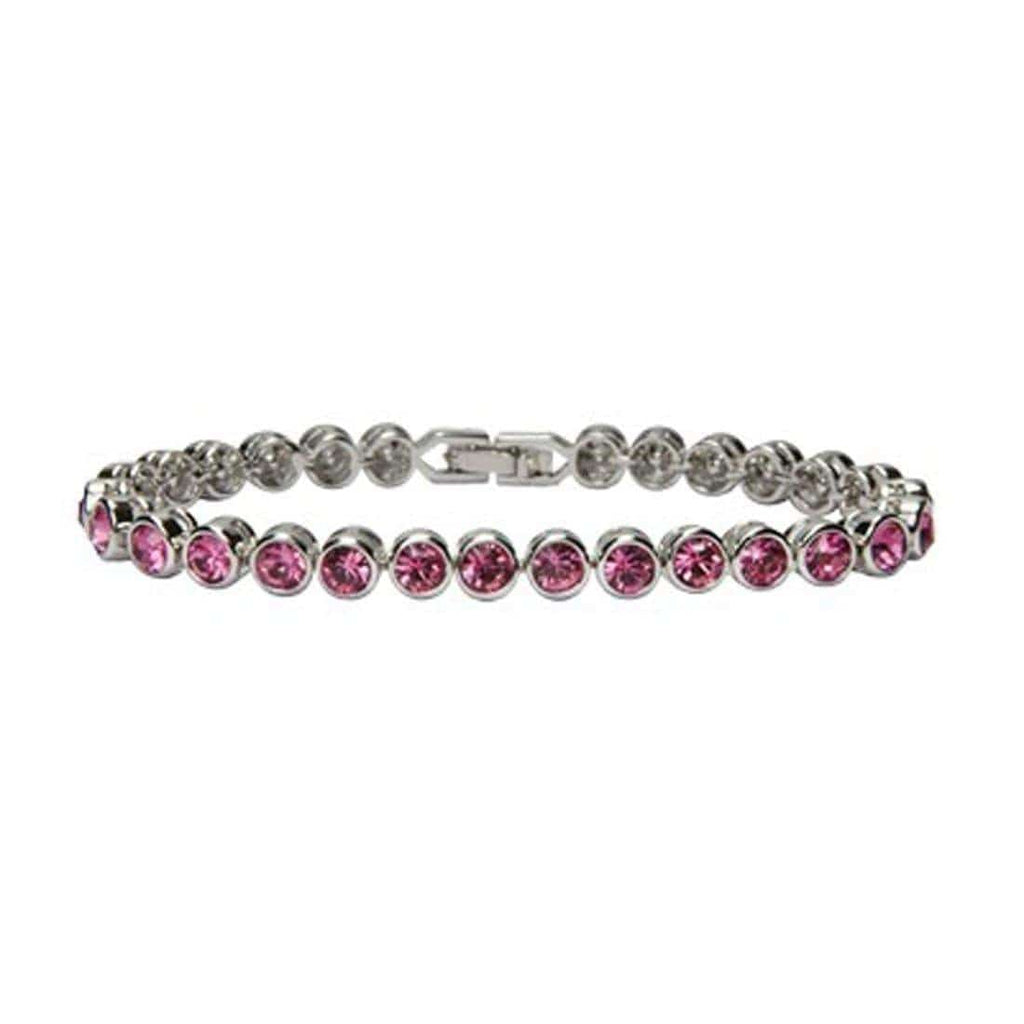 Kalifano Tennis Bracelets STB-R - Tennis Bracelet made with Swarovski Elements - Rose STB-R