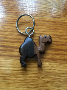 African Wooden Keychain - Camel - Accessories