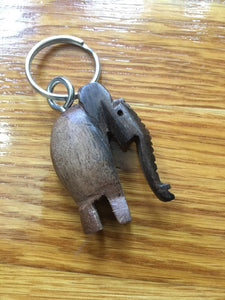 African Wooden Keychain - Elephant - Accessories