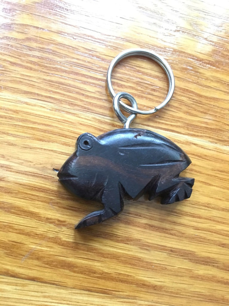 African Wooden Keychain - Frog - Accessories