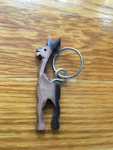 African Wooden Keychain - Giraffe - Accessories